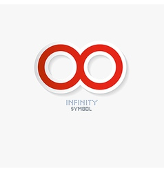 Red Paper Infinity Symbol vector