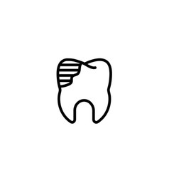 Restoration help solution tool dental care icon vector
