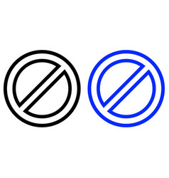 restriction icon vector image