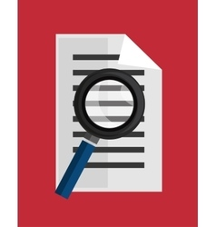 Searching document education online icon vector