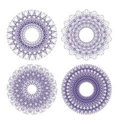 Set guilloche rosettes vector