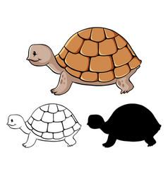 Set turtle cartoon vector