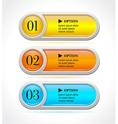 Shine colorful options banners or buttons vector