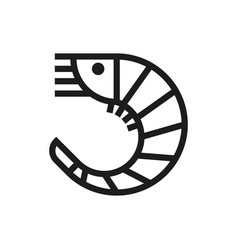 shrimp isolated icon on white background vector image