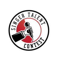 singer talent contest logo vector image