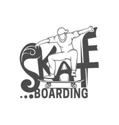 Skateboarding logotype vector