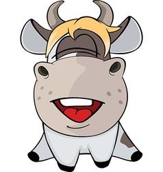 Small cow cartoon vector
