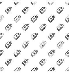 star brand label pattern seamless vector image