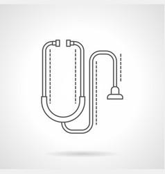 stethoscope flat line icon vector image