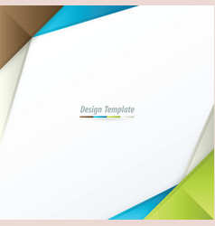 template design brown white blue green vector image