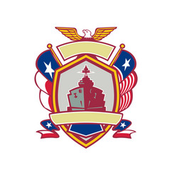 Texas warship lone star flag crest icon vector