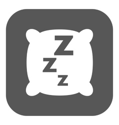 The pillow icon Cushion and dream sleeping vector image