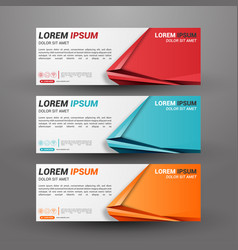 three business banner vector image