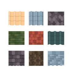 Tile rocolor set oval rectangular plates green vector