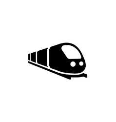 Train icon trip way journey concept on isolated vector