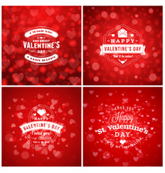 valentines day cards or poster design templates vector image
