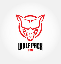 Wolf pack gym vector