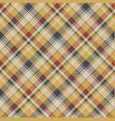 Yellow plaid check fabric texture seamless pattern vector