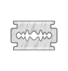 Blade razor icon black monochrome style vector