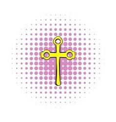 Religious symbol of crucifix icon comics style vector