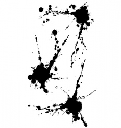 three isolated blots vector image