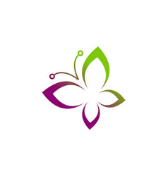 butterfly abstract beauty logo vector image