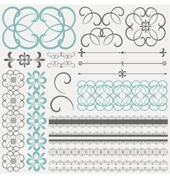 collection of ornamental design elements and vector image