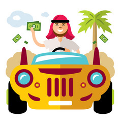 spender of money concept flat style vector image vector image