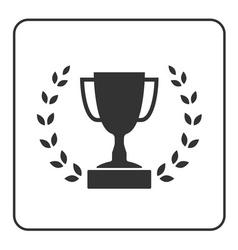Trophy cup with Laurel wreath icon 3 vector image vector image