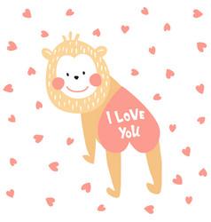 valentine monkey vector image