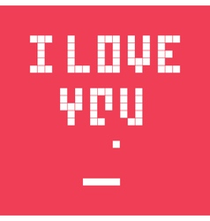 valentines day card video game i love you vector image vector image