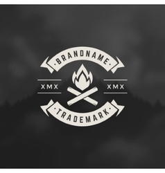 Bonfire flame design element vector