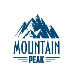 Mountain peak isolated icon or emblem vector image vector image