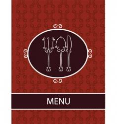 restaurant dinner menu vector image vector image