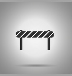 road barrier icon striped road desk vector image