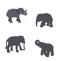 Set of elephant isolated on white background eps10 vector