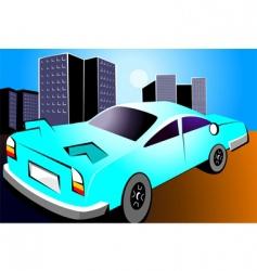 abstract car vector image vector image