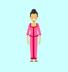 asian woman in traditional dress vietnamese female vector image