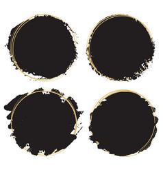 decorative grunge design elements - black paint vector image