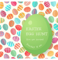 Easter egg hunt poster template vector image vector image