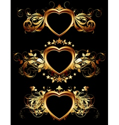 heart forms with ornate elements vector image vector image
