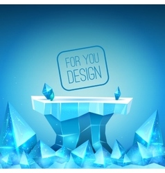 Ice backdrop vector image