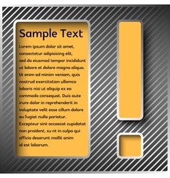 Information panel with an exclamation point vector image