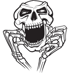 laughing skull vector image