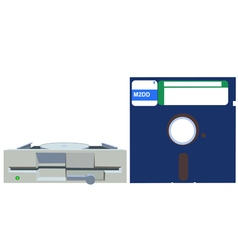 old floppy vector image vector image
