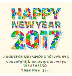 Patched nice happy new year 2017 greeting card vector