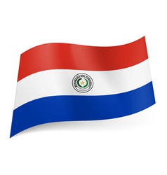 State flag of Paraguay vector image vector image