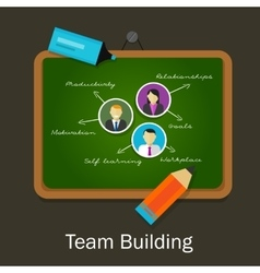 team work building human resource recruitment vector image