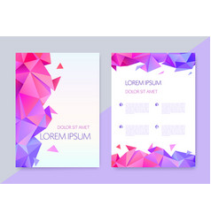abstract geometric graphic design covers vector image