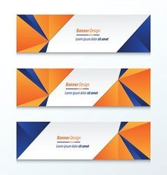 Abstract Triangle Banner vector